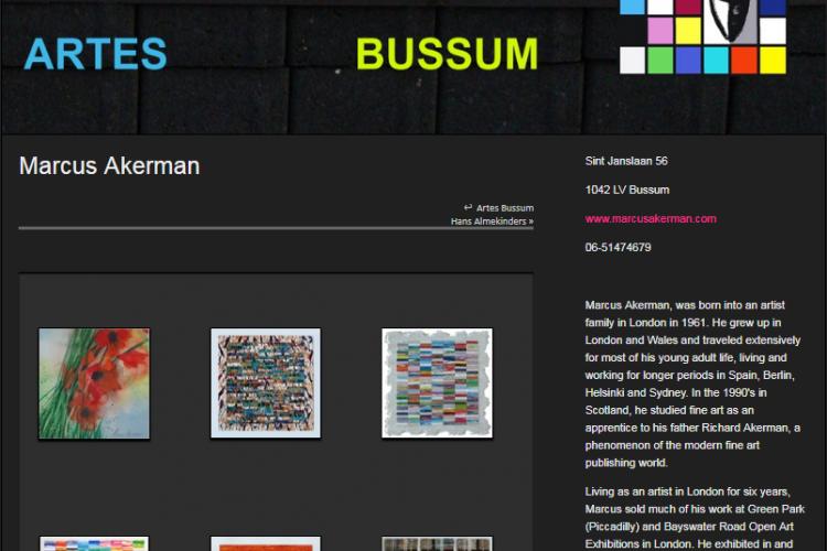 Website Artes Bussum - Marcus Akerman